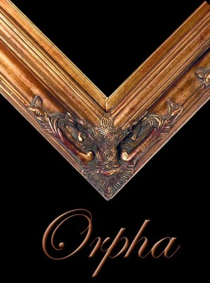 "4 1/2 ""EMBOSSED DARK GOLD (SWEPT) FRAME ""ORPHA""  – image 1"