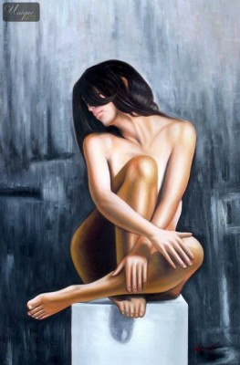 "NUDE ART - LONGING FOR AFFECTION 24X36 "" ORIGINAL OIL PAINTING  – image 1"