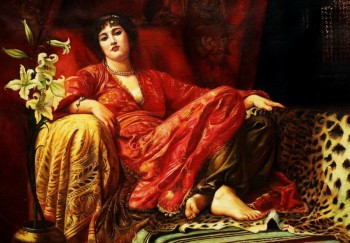 "SIR FRANK DICKSEE - LEILA 24x36 "" OIL PAINTING REPRODUCTION IN MUSEUM QUALITY – image 1"