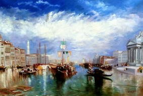 "WILLIAM TURNER - THE GRAND CANAL IN VENICE 48X72 "" OIL PAINTING MUSEUM QUALITY – image 2"