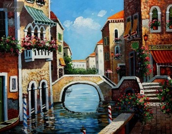"GRAND CANAL - VENICE 16X20 "" ORIGINAL OIL PAINTING – image 1"