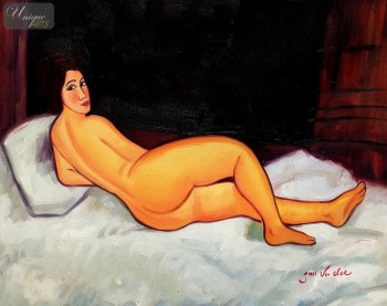 "AMEDEO MODIGLIANI - RECLINING NUDE  16X20 "" OIL PAINTING REPRODUCTION – image 1"
