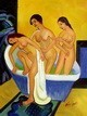 "ERNST LUDWIG KIRCHNER - WOMEN BATHING  12X16 "" OIL PAINTING REPRODUCTION – image 2"
