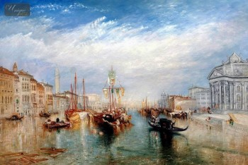"WILLIAM TURNER - THE GRAND CANAL IN VENICE  24X36 "" OIL PAINTING MUSEUM QUALITY – image 1"