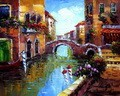 "BRIDGE OVER CANAL IN VENICE 16X20 "" ORIGINAL OIL PAINTING – image 2"