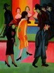 "ERNST LUDWIG KIRCHNER - AT THE BARBERSHOP  12X16 "" REPRODUCTION OIL PAINTING – image 2"