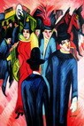 "ERNST LUDWIG KIRCHNER - STREET SCENE IN BERLIN  24X36 "" REPRODUCTION OIL PAINTING – image 2"