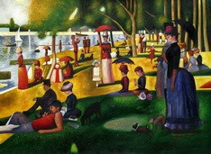 "GEORGES SEURAT - SUNDAY AFTERNOON ON LA GRANDE JATTE  32X44 "" OIL PAINTING – image 2"