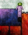 "POP ART - THE FUNNY PURPLE DOG  16X20 "" HANDMADE OIL PAINTING – image 2"