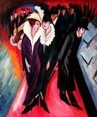 "ERNST LUDWIG KIRCHNER - STREET SCENE IN BERLIN  20X24 "" REPRODUCTION OIL PAINTING – image 2"