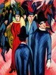 "ERNST LUDWIG KIRCHNER - BERLIN STREET SCENE  12X16 "" REPRODUCTION OIL PAINTING – image 2"