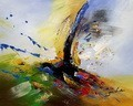 "ABSTRACT -  COLOR SPLASH  16X20 "" ORIGINAL OIL PAINTING – image 2"