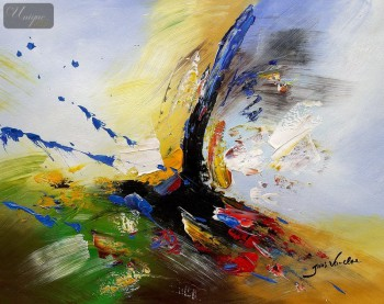 "ABSTRACT -  COLOR SPLASH  16X20 "" ORIGINAL OIL PAINTING – image 1"